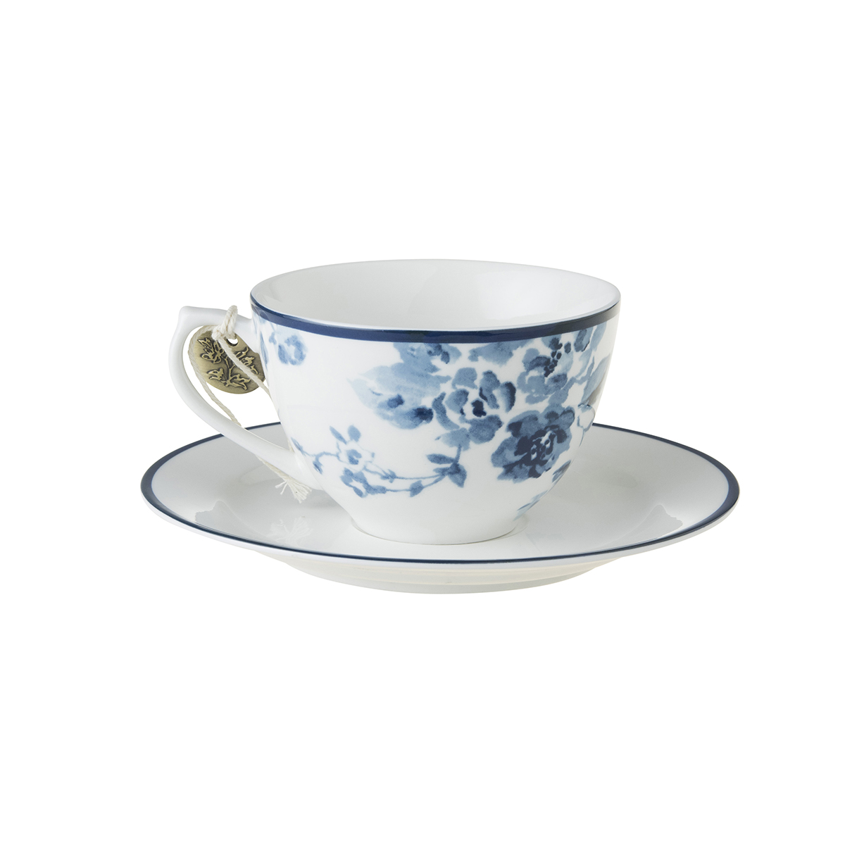 CHINA ROSE CAPPUCCINO CUP & SAUCER
