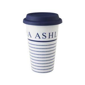 CANDY STRIPE CERAMIC COFFEE CUP