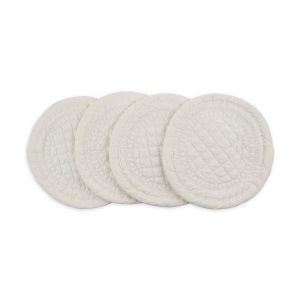 SIGNATURE COLLECTION IVORY COTTON COASTER x4