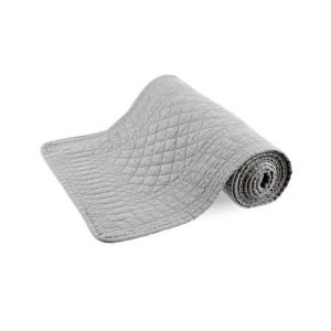 SIGNATURE COLLECTION GREY COTTON TABLE RUNNER