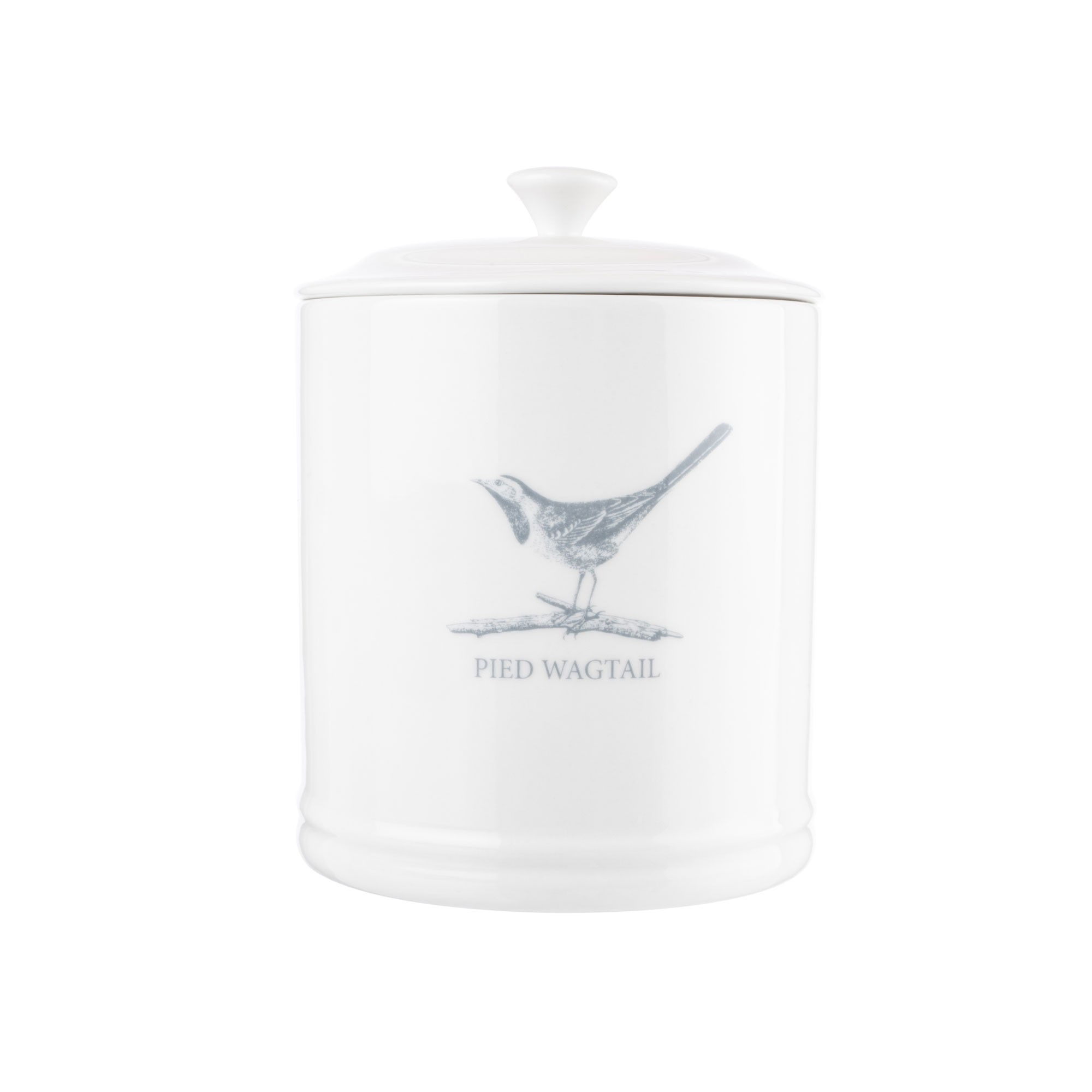 GARDEN COLLECTION PIED WAGTAIL TEA CANISTER