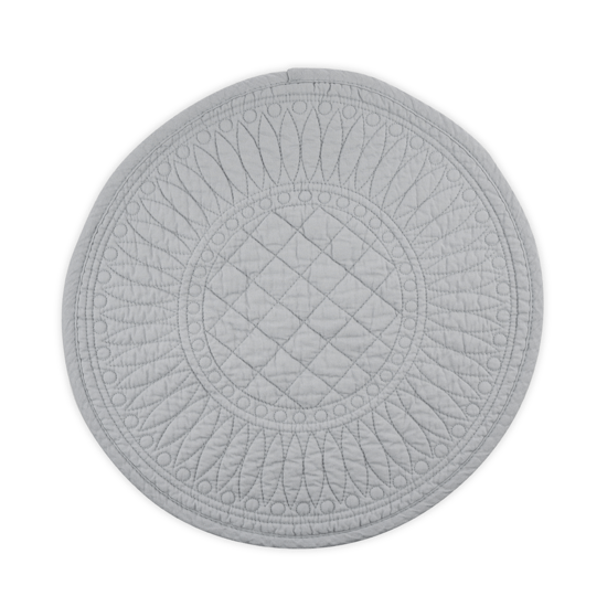 SIGNATURE COLLECTION GREY COTTON PLACEMAT