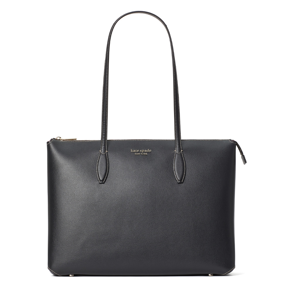 ALL DAY LARGE ZIP TOP TOTE BLACK