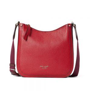 ROULETTE MEDIUM MESSENGER BAG RED CUURENT
