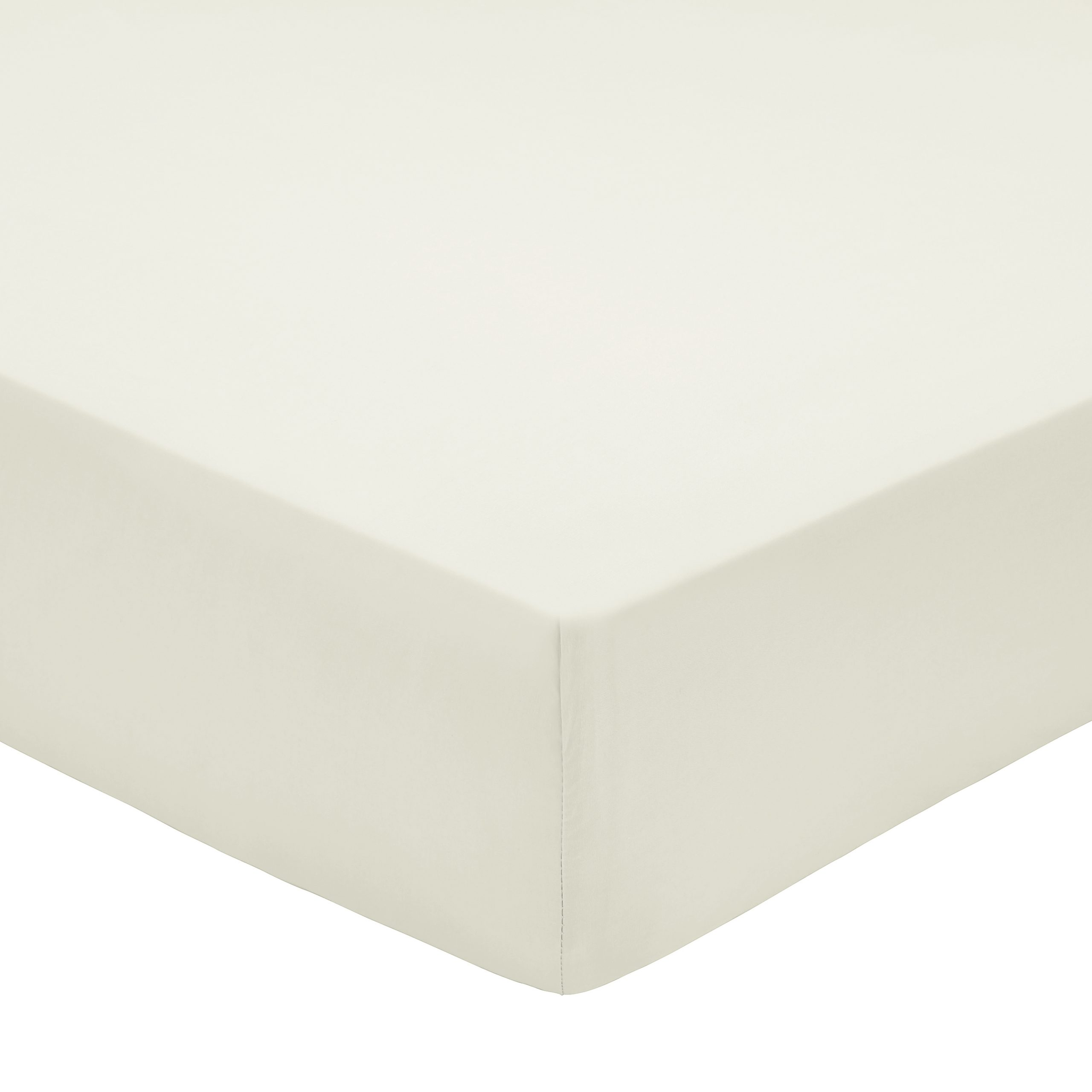 200TC PIMA COTTON FITTED SHEET DOUBLE CHALK