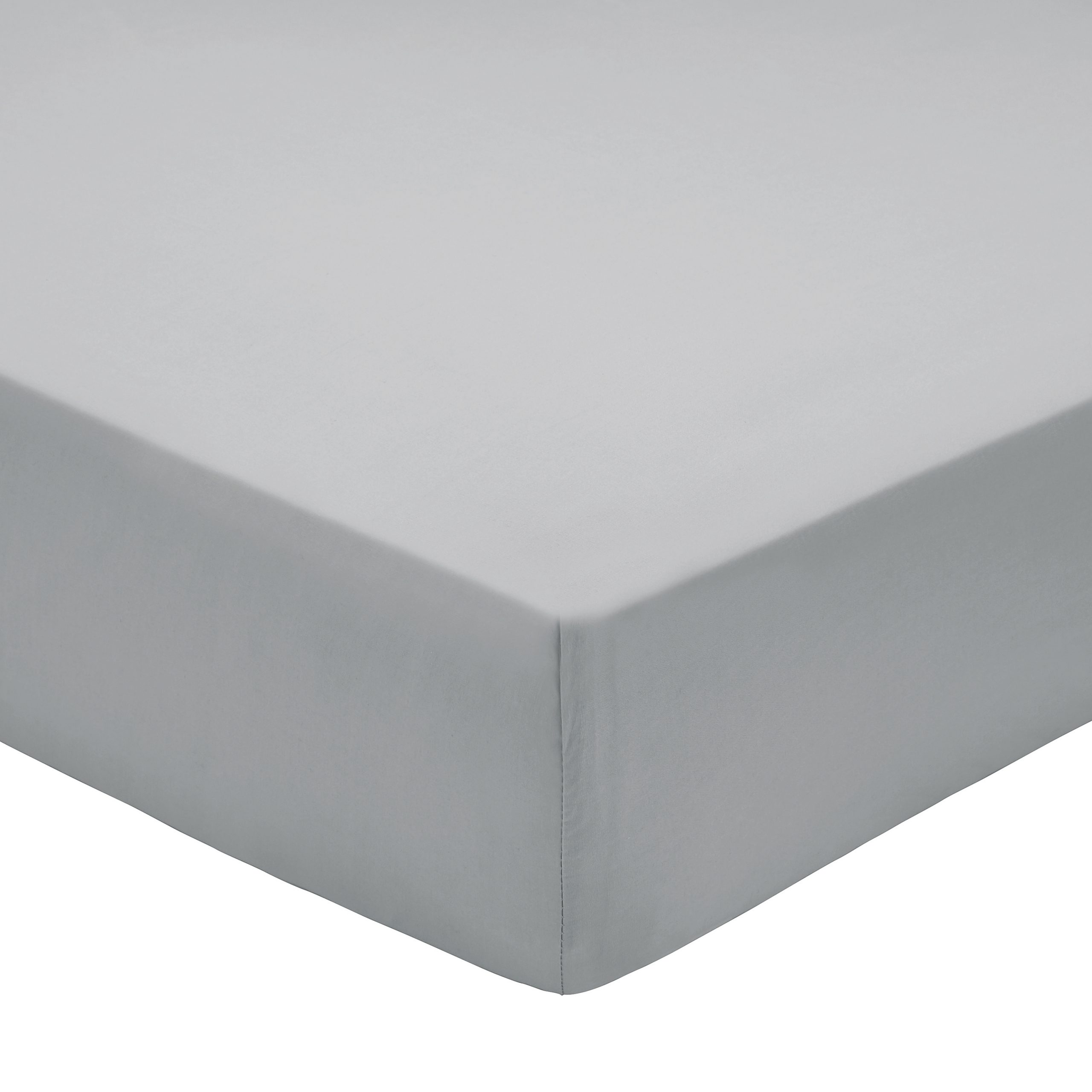 200TC PIMA COTTON FITTED SHEET DOUBLE GREY
