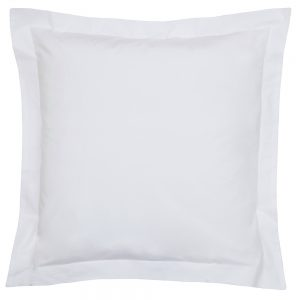 200TC PIMA COTTON SQUARE OXFORD PILLOWCASE SINGLE WHITE