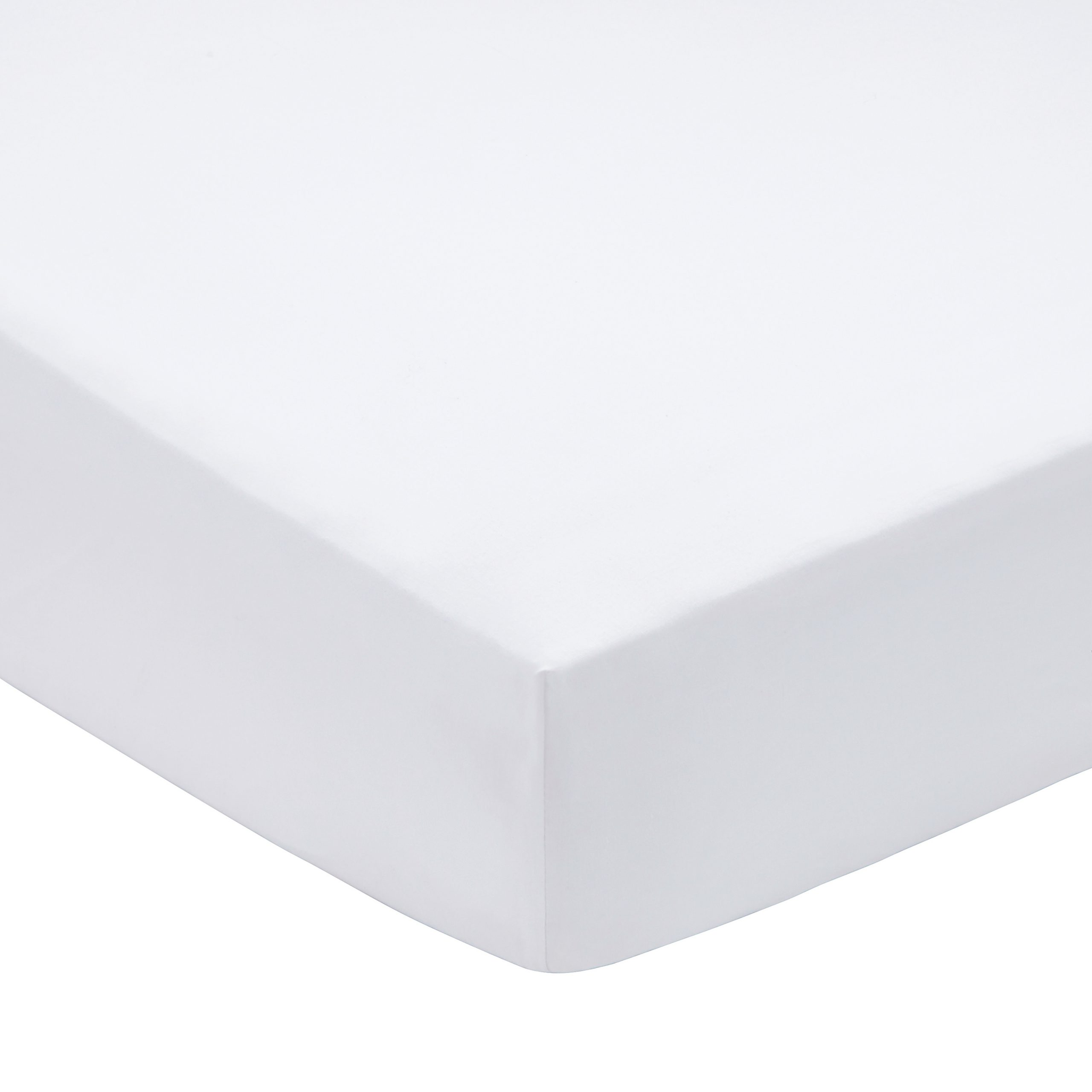 200TC PIMA COTTON FITTED SHEET DOUBLE WHITE
