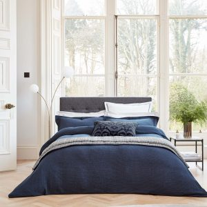NIKA TEXTURED DUVET COVER KING - MIDNIGHT