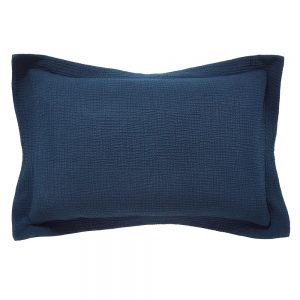 NIKA TEXTURED OXFARD PILLOWCASE SINGLE - MIDNIGHT