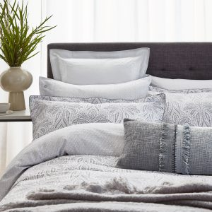 SAFFI COTTON DUVET COVER DOUBLE - SILVER