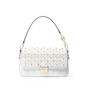 BRADSHAW SMALL STUDDED CONVERTIBLE SHOULDER BAG - WHITE