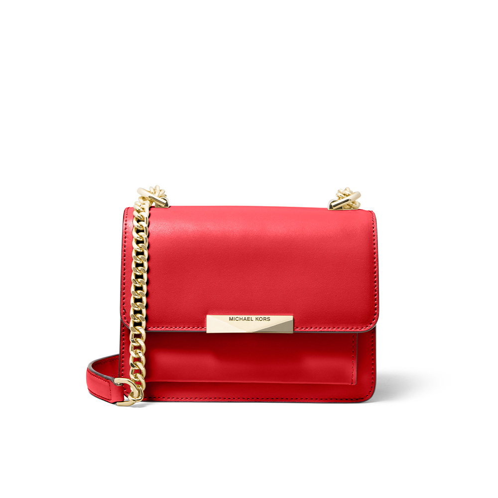 JADE EXTRA SMALL LEATHER CROSSBODY BAG - BRIGHT RED