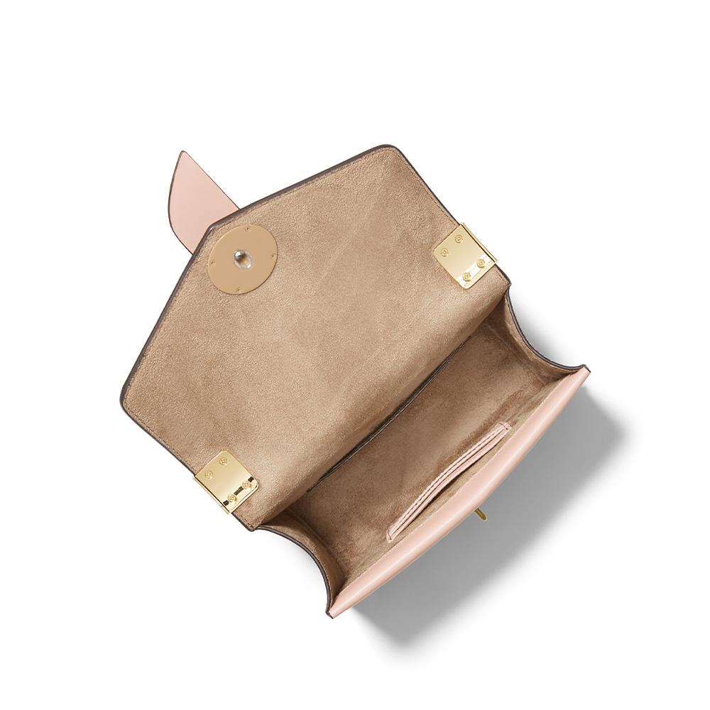 GREENWICH SMALL SAFFIANO LEATHER CROSSBODY BAG - SOFT PINK