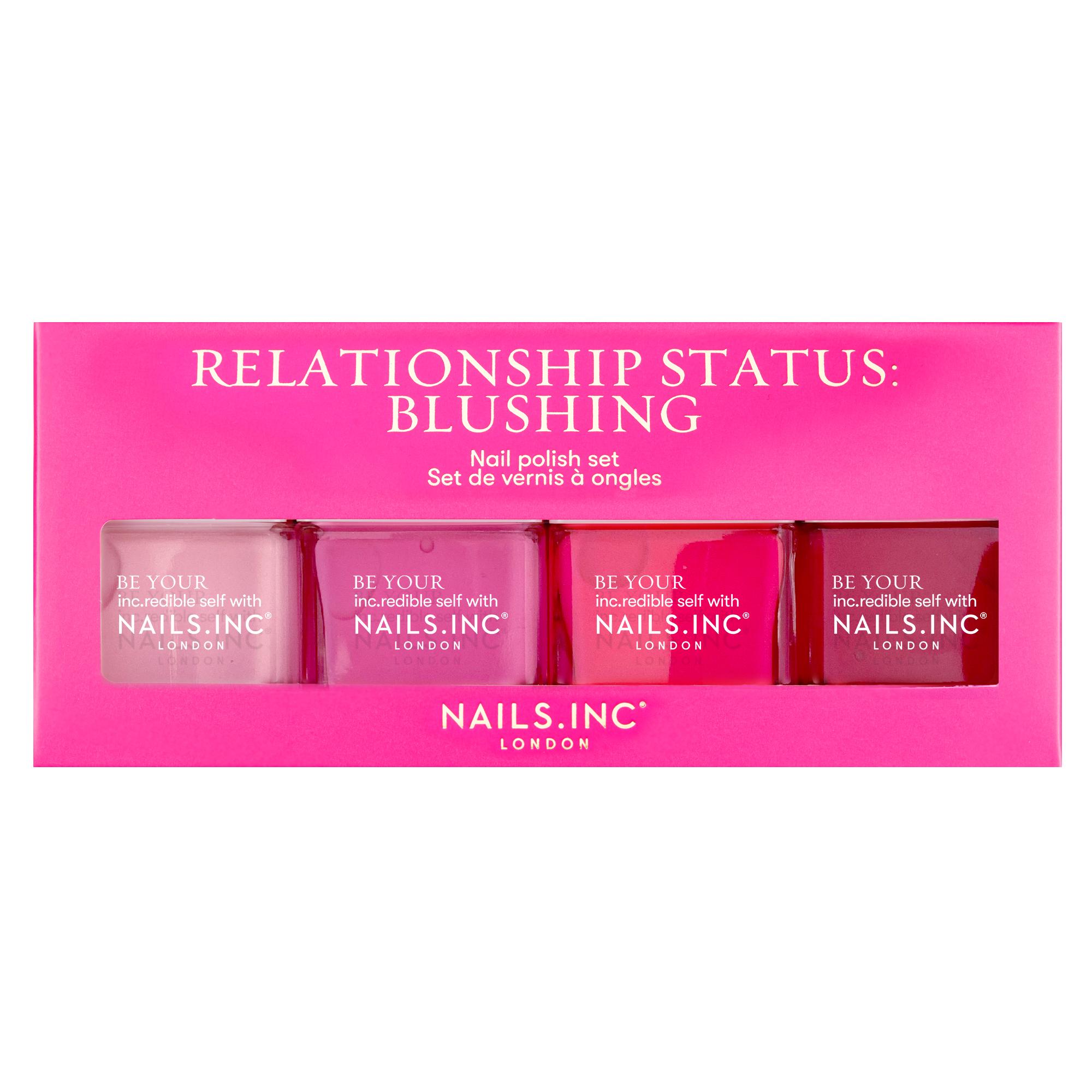 RELATIONSHIP STATUS: BLUSHING 4 PIECE NAIL POLISH SET