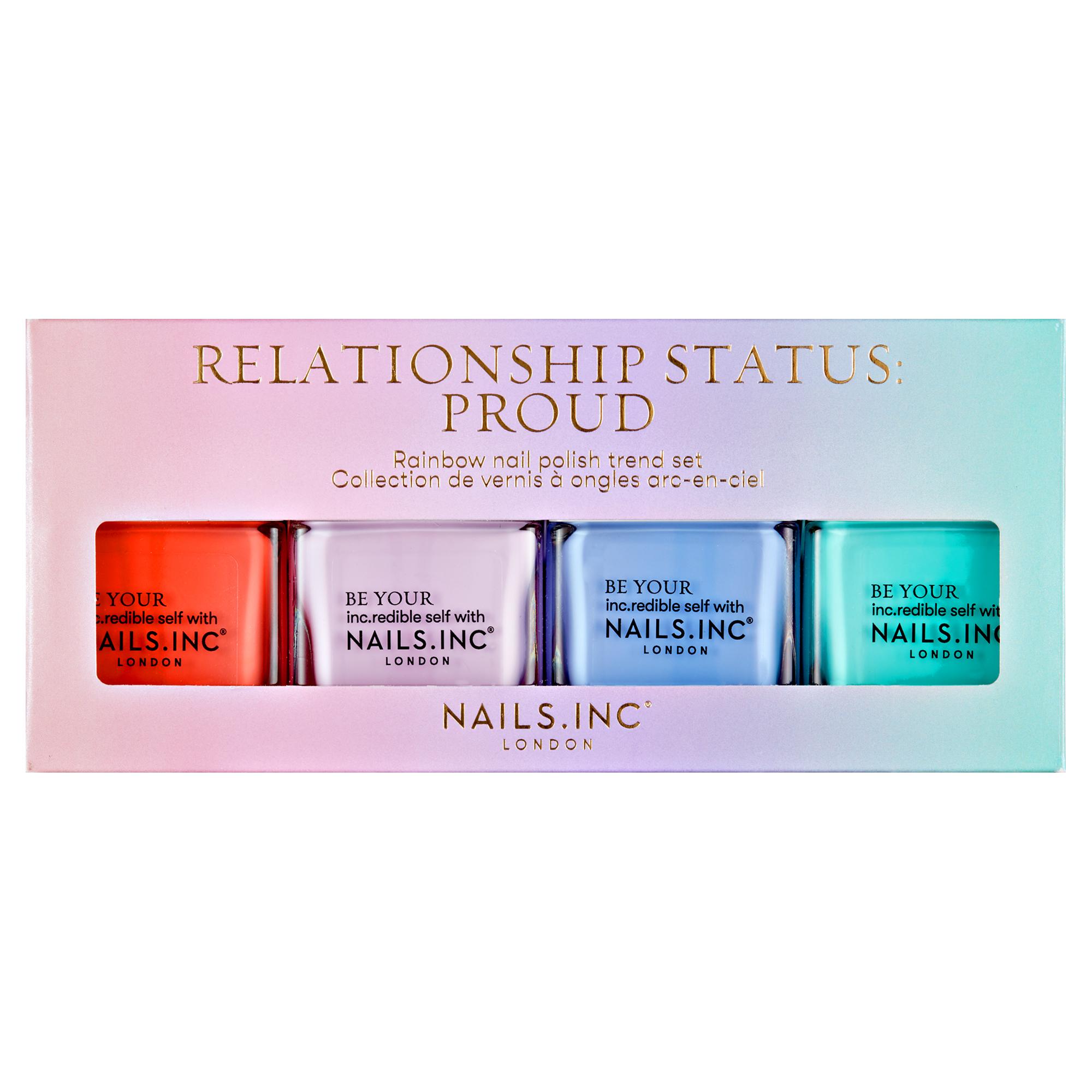 RELATIONSHIP STATUS: PROUD 4 PIECE NAIL POLISH SET