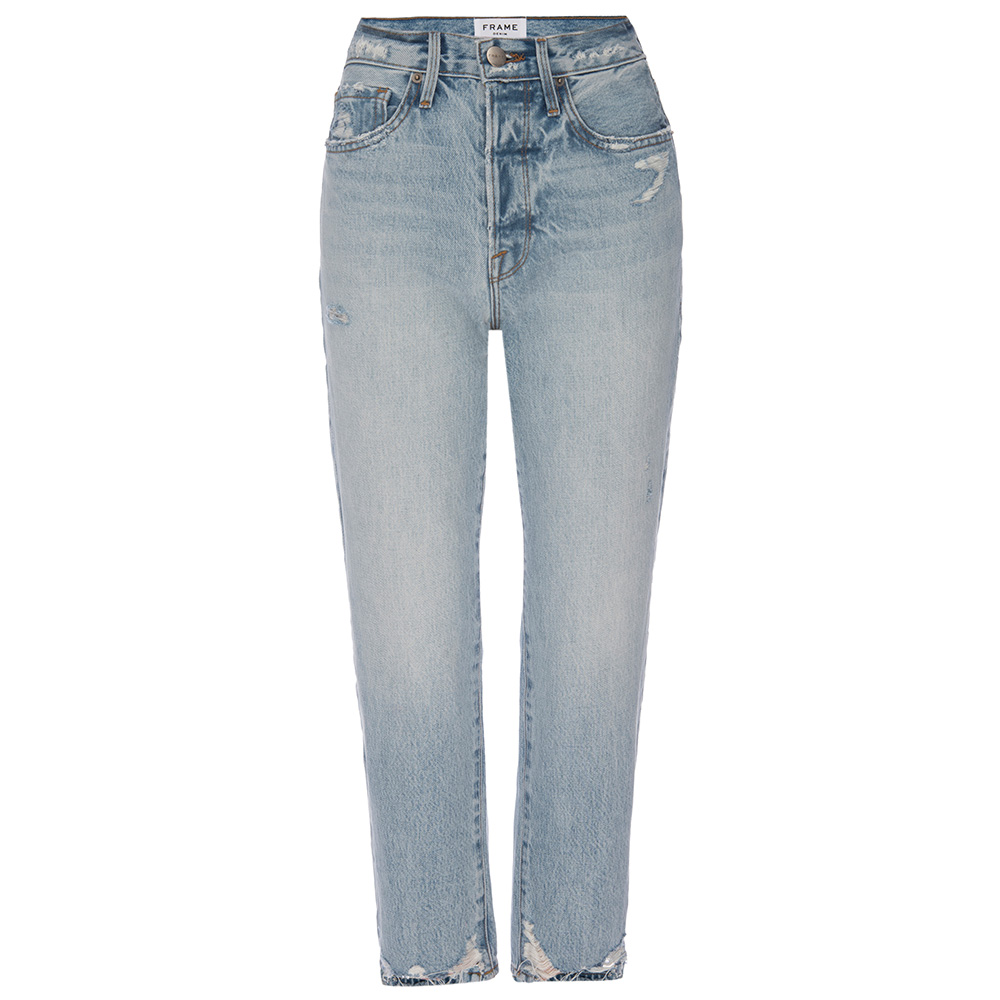 LE ORIGINAL RIPPED HIGH-RISE RELAXED JEAN - LIGHT BLUE