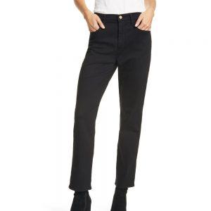 LE SYLVIE SLENDER STRAIGHT LEG JEAN - BLACK