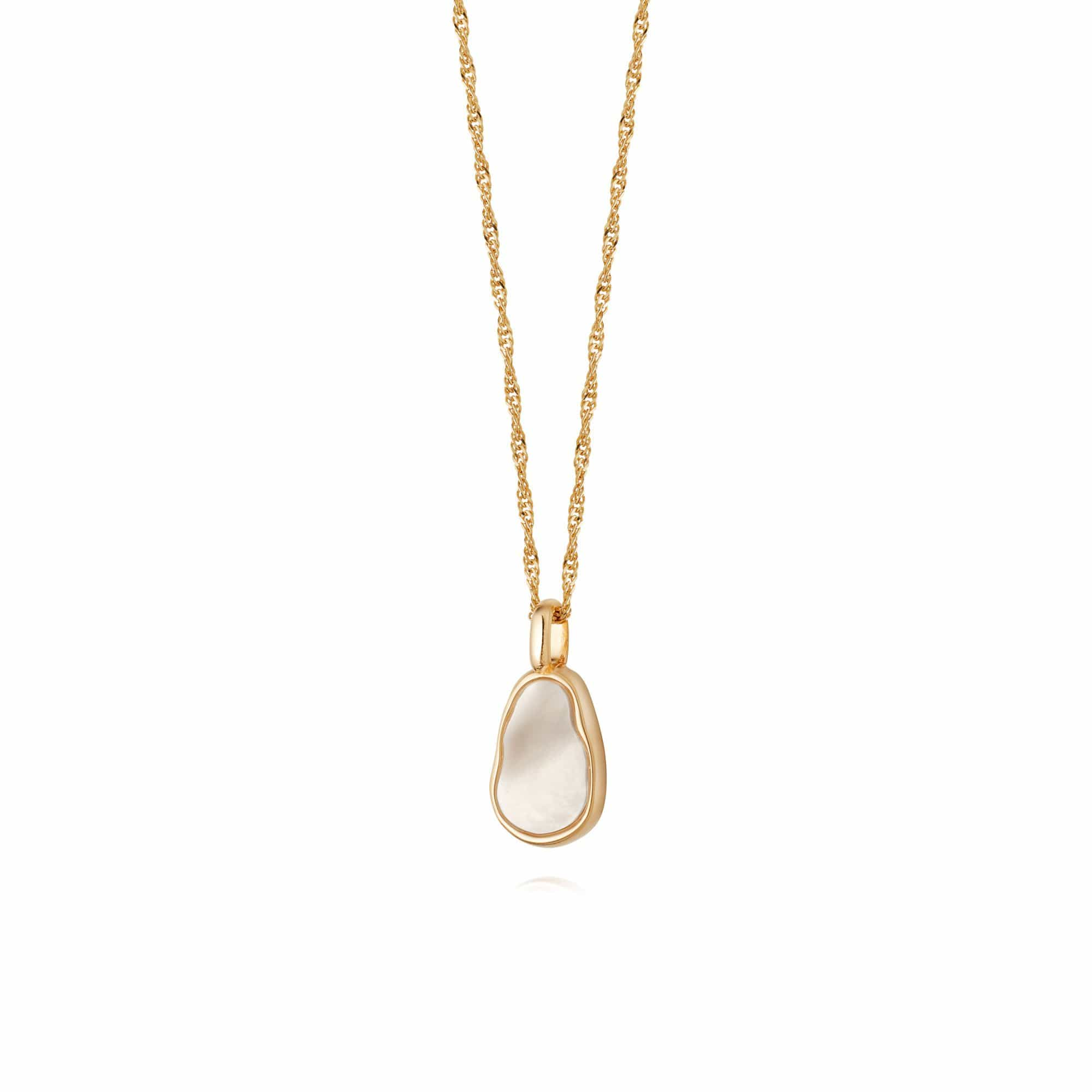 ISLA MOTHER OF PEARL NECKLACE - 18CT GOLD PLATE