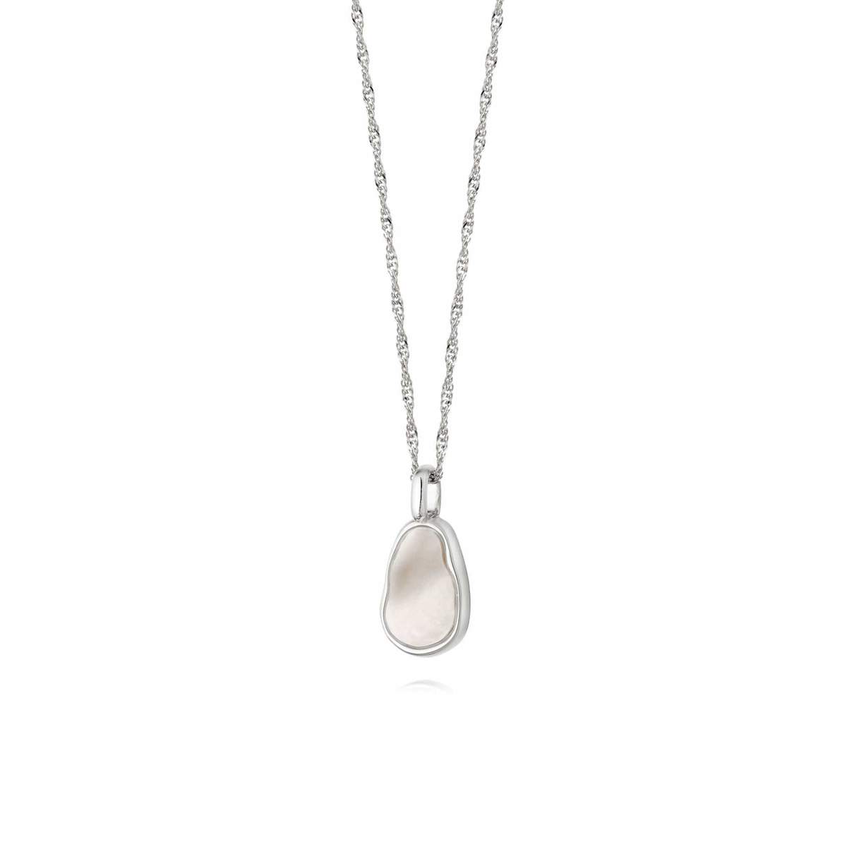 ISLA MOTHER OF PEARL NECKLACE - STERLING SILVER