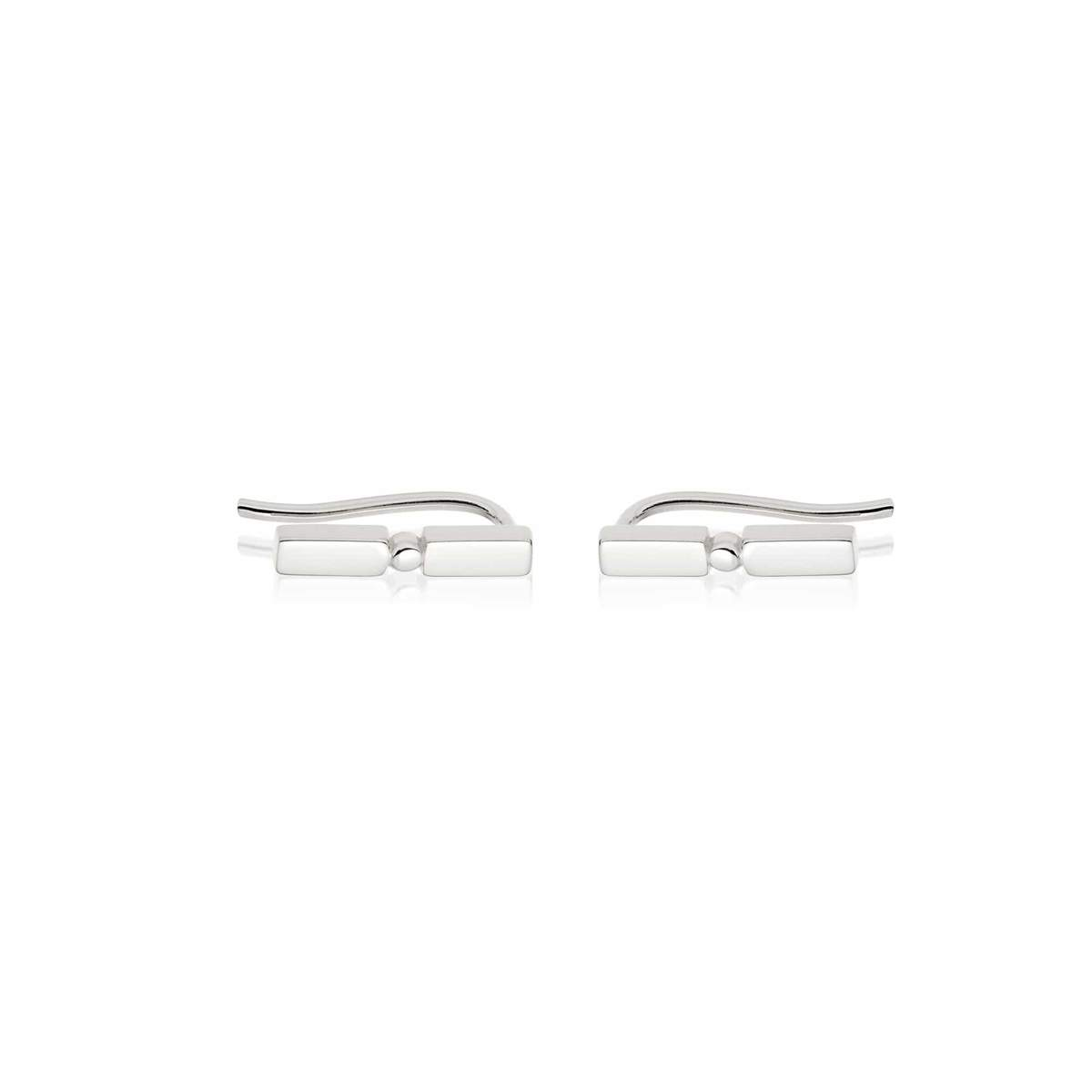 STACKED CRAWLER EARRINGS - STERLING SILVER