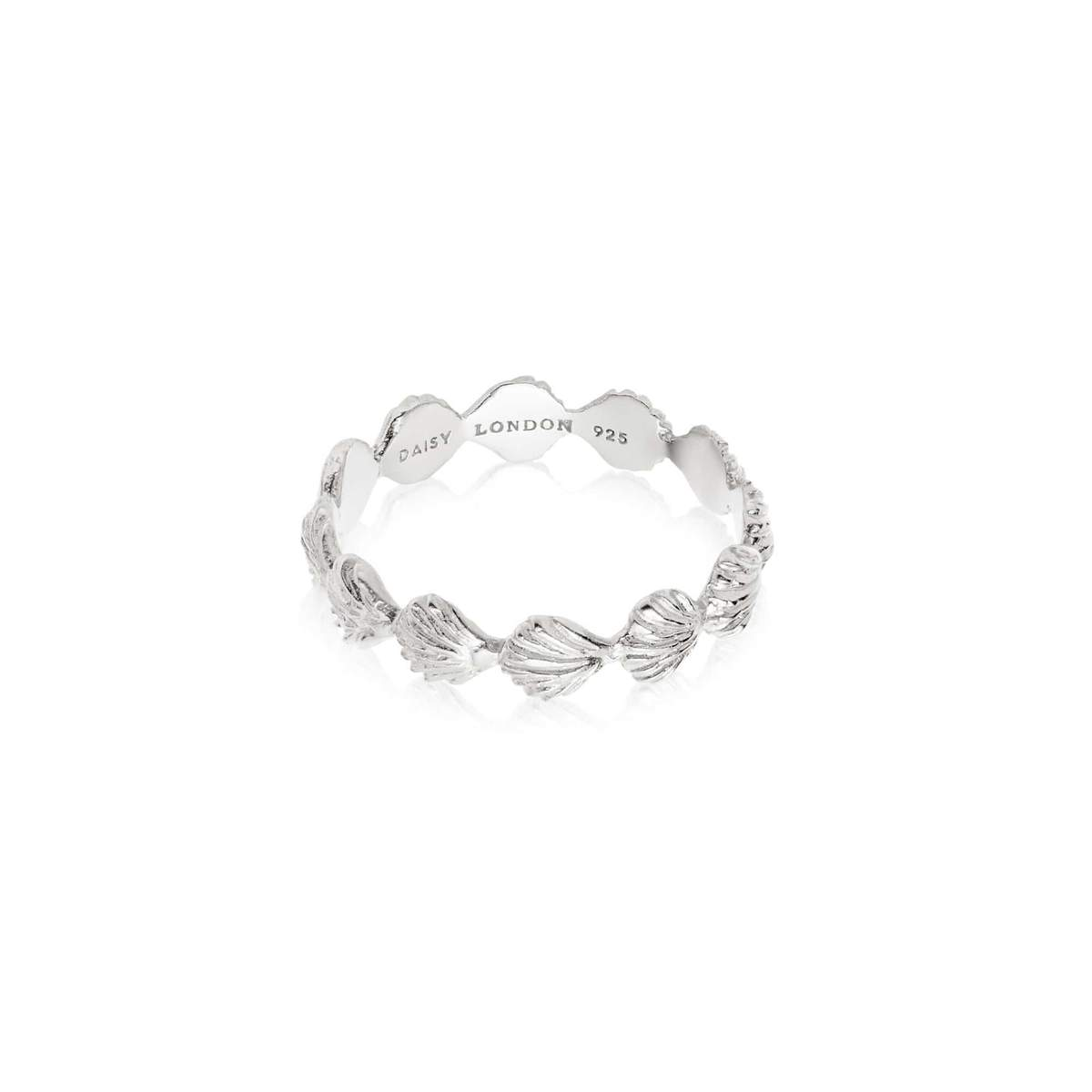 ISLA SHELL STACKING RING - STERLING SILVER M