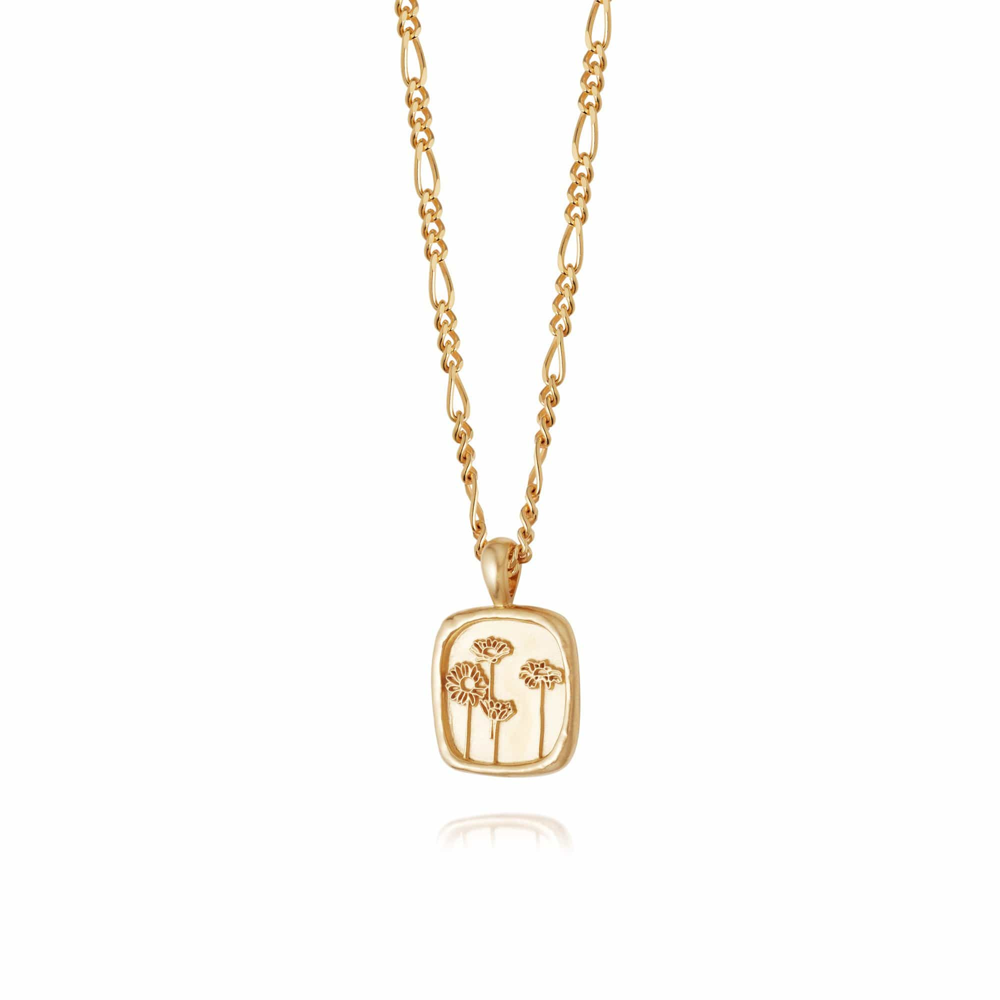 WILD DAISIES FLOWER NECKLACE - 18CT GOLD PLATE