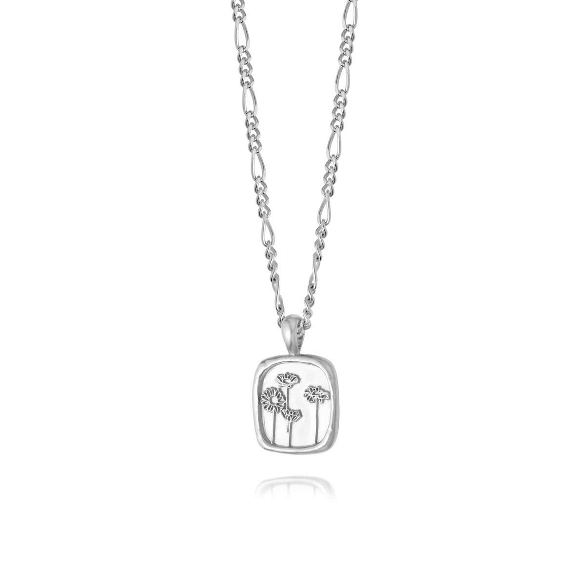 WILD DAISIES FLOWER NECKLACE - STERLING SILVER