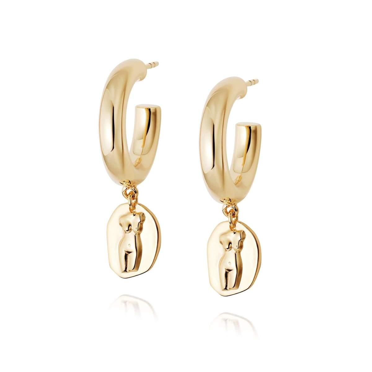 ATHENA HOOP EARRINGS - 18CT GOLD PLATE
