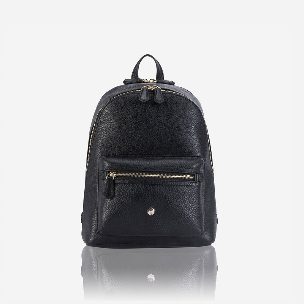 CLASSIC LEATHER BACKPACK - BLACK