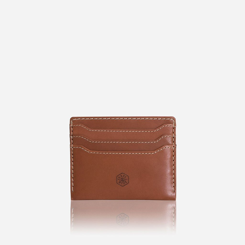 LEATHER CARD HOLDER - TAN