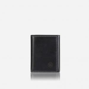 TRI FOLD CARD HOLDER - BLACK
