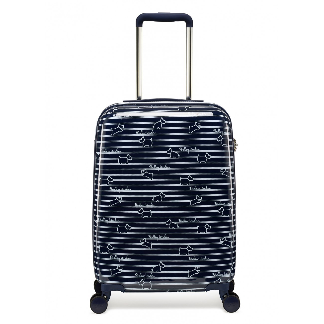 DOG STRIPE SMALL SUITCASE - INK
