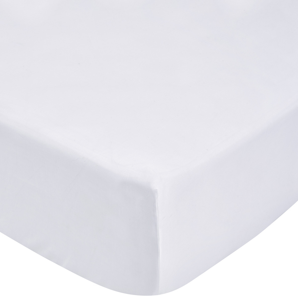 TENCEL FITTED SHEET KING - WHITE