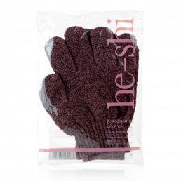 He-Shi Exfoliating Gloves - Step 1