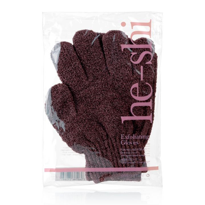 He-Shi Exfoliating Gloves - Step 1