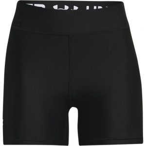 WOMENS HEAT ARMOUR MID RISE MIDDY SHORTS - BLACK/WHITE