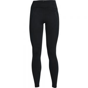 WOMENS UA RUSH SHEEN FULL LENGTH LEGGINGS - BLACK