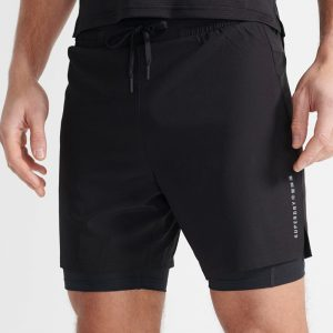 DOUBLE LAYER SHORTS - BLACK