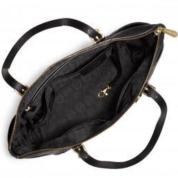 Jet Set Top-Zip Saffiano Leather Tote BLACK