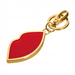 Red Enamel Lip Keyring