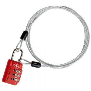 3 DIAL TSA LOCK AND CABLE - GRAPHITE