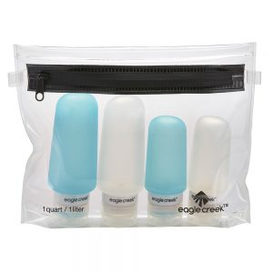 SILICONE BOTTLE SET - CLEAR