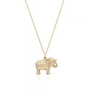 CLASSIC ELEPHANT CHARM NECKLACE - GOLD