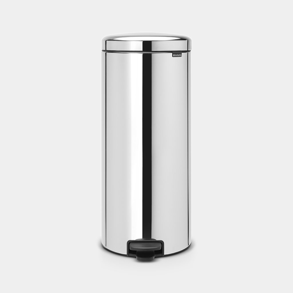 PEDAL BIN 30 LITRE - BRILLIANT STEEL