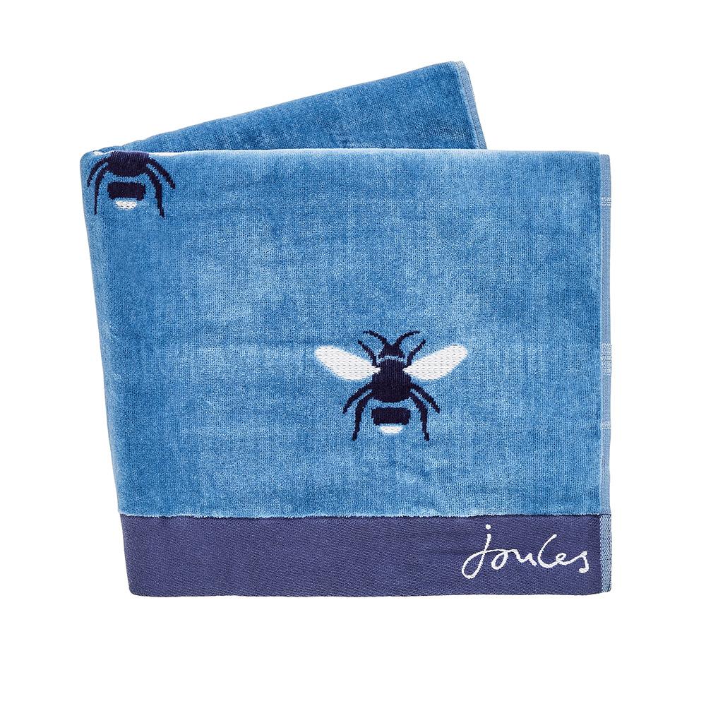 BOTANICAL BEE BATH TOWEL - PALE BLUE