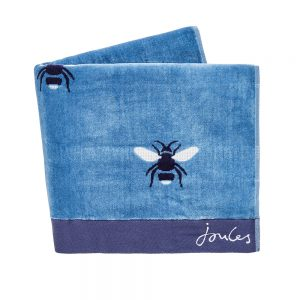 BOTANICAL BEE BATH SHEET - PALE BLUE