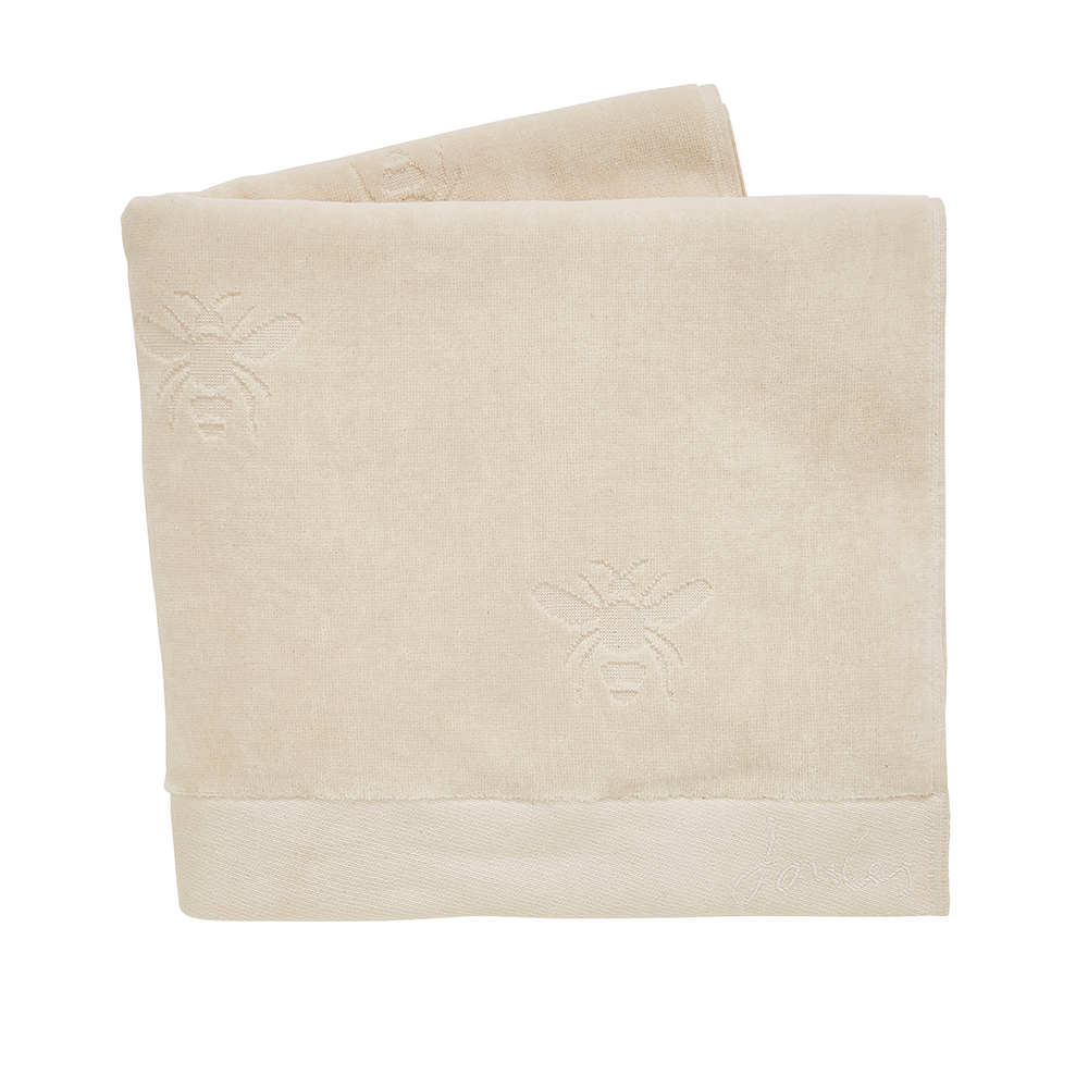 BOTANICAL BEE SEMI PLAIN HAND TOWEL CRÈME
