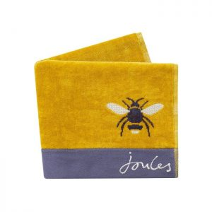 BOTANICAL BEE SEMI PLAIN HAND TOWEL GOLD