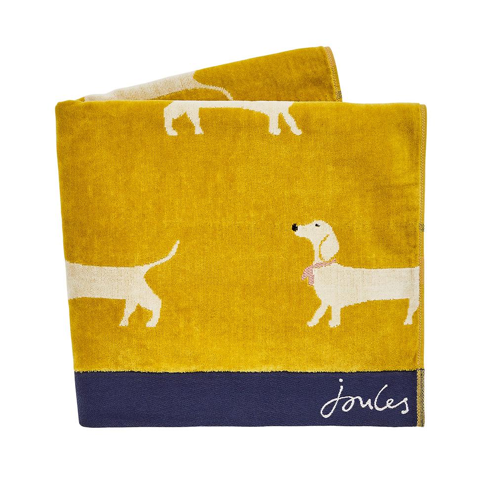 SAUSAGE DOG BATH TOWEL - GOLD